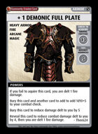 + 1 Demonic Full Plate - Custom Card
