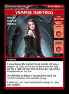 Vampire Temptress - Custom Card