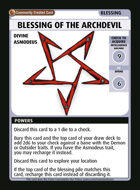 Blessing Of The Archdevil - Custom Card
