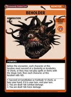 Beholder - Custom Card