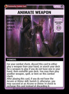 Animate Weapon - Custom Card