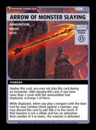 Arrow Of Monster Slaying - Custom Card