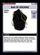 Bag Of Holding - Custom Card