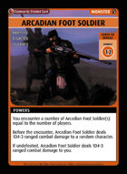 Arcadian Foot Soldier - Custom Card