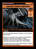 Ancient White Dragon - Custom Card