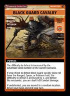 Black Guard Cavalry - Custom Card