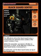 Black Guard Sentry - Custom Card