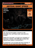 Abyssal Giant Spider - Custom Card
