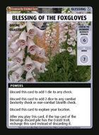 Blessing Of The Foxgloves - Custom Card