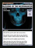 Blessing Of The Necromancer - Custom Card