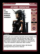 Avahzi Serafian - Custom Card