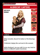 Albrecht Captive - Custom Card