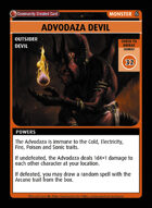 Advodaza Devil - Custom Card