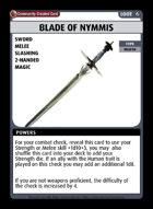 Blade Of Nymmis - Custom Card