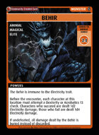 Behir - Custom Card