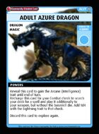 Adult Azure Dragon - Custom Card