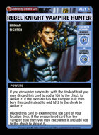 Rebel Knight Vampire Hunter - Custom Card