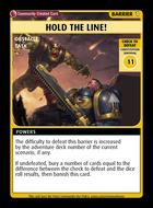 Hold The Line! - Custom Card