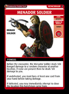 Menador Soldier - Custom Card
