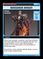 Berserker Knight - Custom Card