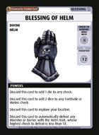 Blessing Of Helm - Custom Card