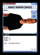 Adult Human (male) - Custom Card