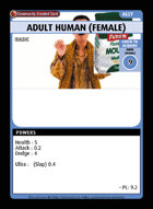 Adult Human (female) - Custom Card