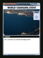 World-changing Event - Custom Card