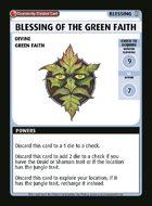 Blessing Of The Green Faith - Custom Card
