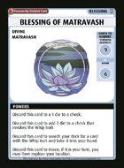 Blessing Of Matravash - Custom Card