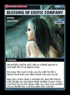 Blessing Of Exotic Company - Custom Card