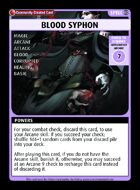 Blood Syphon - Custom Card