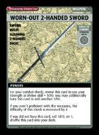 Worn-out 2-handed Sword - Custom Card
