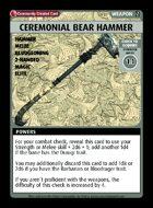 Ceremonial Bear Hammer - Custom Card