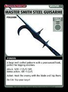 Master Smith Steel Guisarme - Custom Card