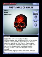 Ruby Skull Of Chast - Custom Card