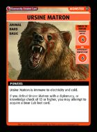 Ursine Matron - Custom Card