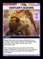 Chaplain's Blessing - Custom Card
