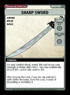 Sharp Sword - Custom Card