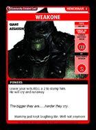 Weakone - Custom Card