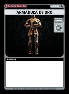 Armadura De Oro - Custom Card