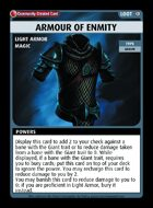 Armour Of Enmity - Custom Card