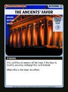 The Ancients' Favor - Custom Card