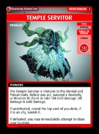 Temple Servitor - Custom Card