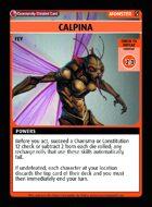 Calpina - Custom Card