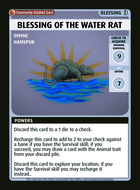 Blessing Of The Water Rat - Custom Card