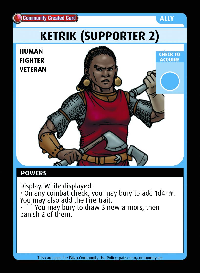 Ketrik (supporter 2) - Custom Card