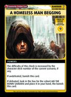 A Homeless Man Begging - Custom Card