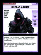 Undead Archer - Custom Card