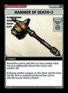 Hammer Of Death+3 - Custom Card